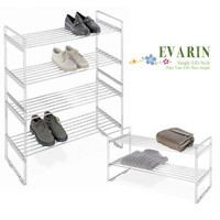2 Tier Shelf Shoe Rack Utility Closet Organizer Collect Storage Stand Save Space