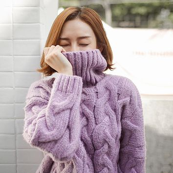 GABERLY Thick Cashmere Soft Loose Elastic Sweaters and Pullovers Women Autumn Winter Sweater Female Jumpers Brand Pullover