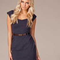 Moa Belt Dress - Rut m.fl. - Bl? - Festkl?nningar - Kl?der - NELLY.COM Mode online p? n?tet