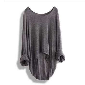 Bat Sleeve Loose Knitwear