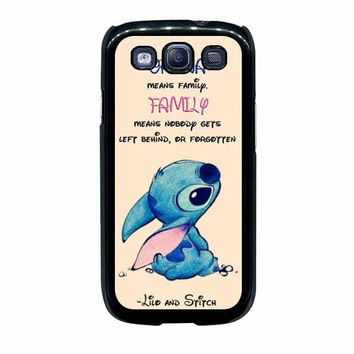 disney lilo and stitch quote novelty samsung galaxy s3 s4 cases