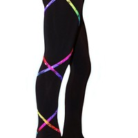 Criss Cross Poly Spandex Rainbow Ice Skating Pants XP120 Figure Skating Store