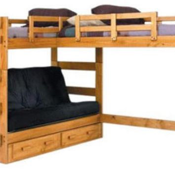 Boone Sleeps 3 or 4 Higher L-Shape Loft Bed