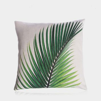 "A Touch of Green Pillow Cover 18"" x 18"""