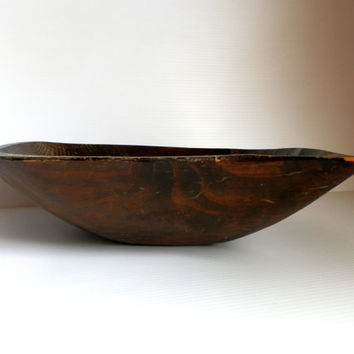 rustic wooden bowl . handmade wooden bowl . dark wood decor . dark rustic decor . handmade bowls . large bowls . wooden decor