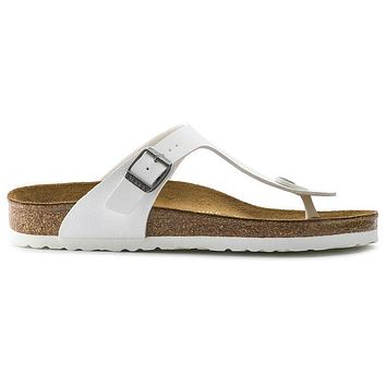 Birkenstock Gizeh Birko Flor White 745531 Sandals - Ready Stock