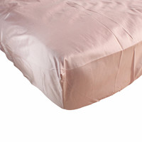 Bella Natural Hypoallergenic Pink Fitted Crib Sheet | 100% Silk