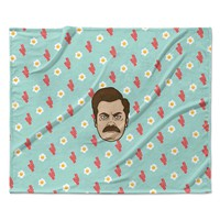 "Juan Paolo ""Give Me All Of The Bacon And Eggs"" Parks & Recreation Fleece Throw Blanket"