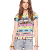 Bow Back Geo Tee | FOREVER21 - 2000040334