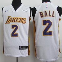 Best Deal Online Nike NBA Basketball Jersey Los Angeles Lakers # 2 Lonzo Ball
