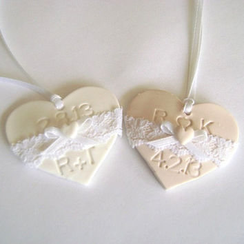 Wedding Favor Tag. Bridal Shower Tag. Laced Initials Favor Tag. Set of 10. Made-to-Order
