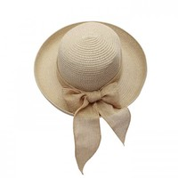 Khaki Straw Hat - Hat and Hair - Accessories