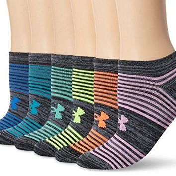 Under Armour Womens Essential Twist 20 No Show Socks 6 Pack