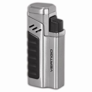 Vertigo Renegade Brushed Chrome Quad Flame Torch Lighter