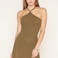 One-Shoulder Ribbed Mini Dress