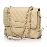 The Arianna Quilted Tote in Milky White with Nappa Leather by Greg Michaels
