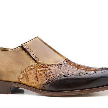 Lucas Crocodile And Italian Calf Skin Slip-on