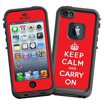 Keep Calm and Carry On Skin for the iPhone 5 Lifeproof Case by skinzy.com