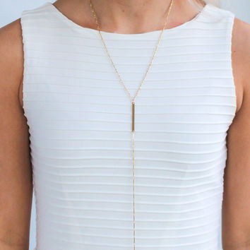 Xtra Long Bar Necklace - Christine Elizabeth Jewelry