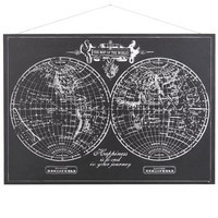 Hemispheres Map Wall Decor