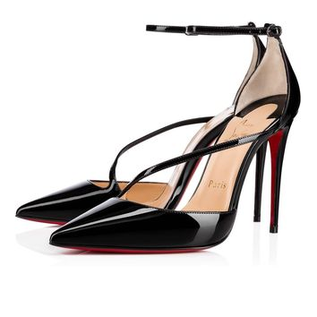 Christian Louboutin Cl Fliketta Black Patent Leather Pumps 3170439bk01 -