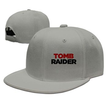 Tomb Raider Basic Wordmark Logo Printing Unisex Adult Womens Fitted Hats Mens Baseball Cap