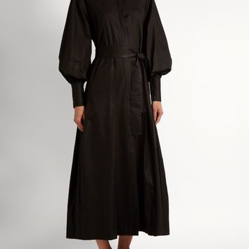 Crimson bishop-sleeved cotton dress | The Row | MATCHESFASHION.COM US