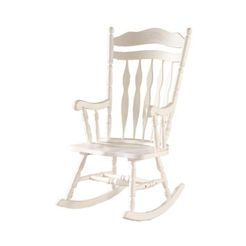 embossed back solid wood rocking chair merp house furniture furniture ...