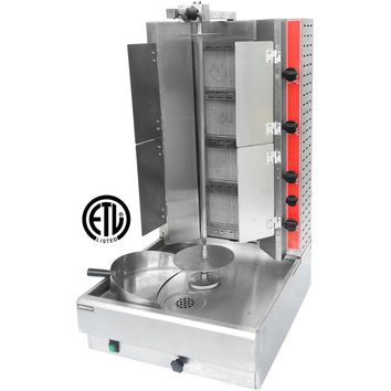 Commercial Kitchen Heavy Duty Vertical Broiler Gyro Machine with Flaps Natural Gas