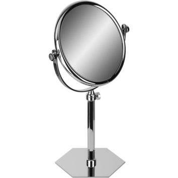 Hexagonal Table Double Sided Extendable Cosmetic Makeup Magnifying Mirror