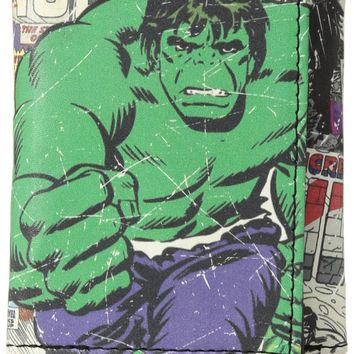 Marvel Mens Hulk Faux Leather Graphic Trifold Wallet Total Quantity