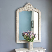 Lily Arch Topped Overmantel Mirror