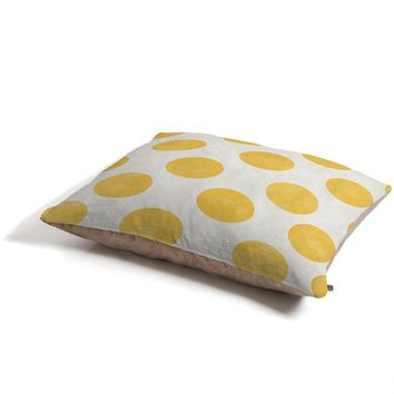 Allyson Johnson Spring Yellow Dots Pet Bed