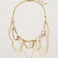 Glimmer Fringe Necklace  by Anthropologie Black One Size Necklaces