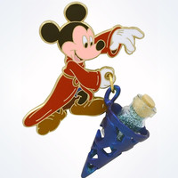 Disney 3-D Sorcerer Mickey Mouse With Hat Pixie Dust Vial Pin New