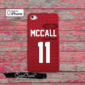 Teen Wolf Inspired Scott Mccall Jersey Beacon Hills Lacrosse Alpha Posey Custom iPhone 4 and 4s Case and Custom iPhone 5 and 5s and 5c Case