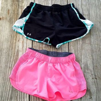 Under Armour Champion C9 Shorts Womens Running Athletic Gym Lot Of 2 Pair XS/S