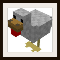 Minecraft Chicken Cross Stitch Pattern | Los Angeles Needlework