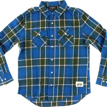 Grizzly North American Flannel Longsleeve Medium Blue