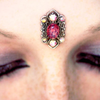 Amalthea Bindi, fantasy, fairy, goddess, tribal, wicca, pagan, third eye, star sapphire, pink, gypsy, fae