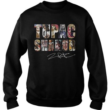 Tupac Shakur Signature shirt Sweat Shirt