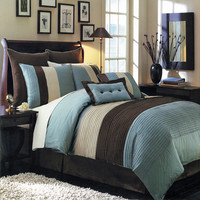 Blue Hudson Luxury 12-Piece Bedding Set