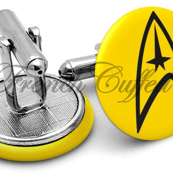 Delta Shield Star Trek Cufflinks