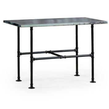 Industrial Metal Table With Iron Legs