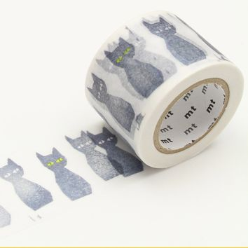 mt x minä perhonen Washi Tape Single Black Cat