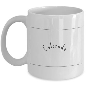 50 states series - Colorado outline - coffee / hot chocolate / tea mug - 11 oz ceramic cup