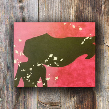 Girl In The Wind Silhouette Painting