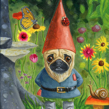 PUG art print by Brian Rubenacker