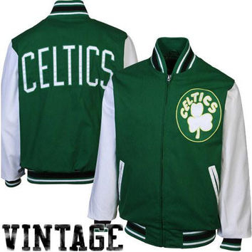 Boston Celtics Final Out Commemorative Jacket - Green/White