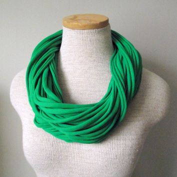 Jersey Tee Circle Scarf - Kelly Green - Emerald - Forest - Irish
